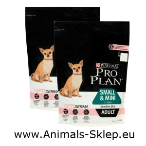 Purina Pro Plan Adult Small Mini Sensitive Skin 700g + 700g