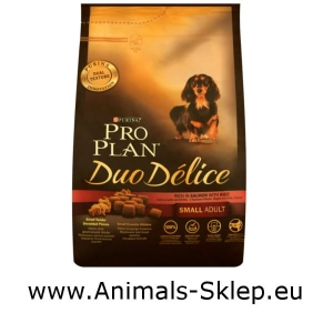 Purina Pro Plan Duo Delice Small Mini Adult łosoś z ryżem 2,5kg