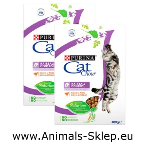 Purina Cat Chow Special Care Hairball Control 400g + 400g
