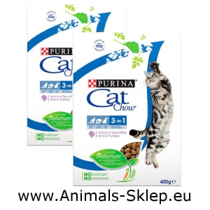 Purina Cat Chow Special Care 3w1 400g +400g