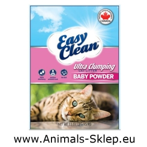 Easy Clean Pestell Baby Powder żwirek zbrylający bentonit sodowy 7kg