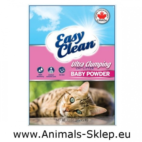 Easy Clean Pestell Baby Powder żwirek zbrylający bentonit sodowy 15kg